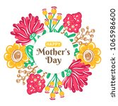 happy mother's day. holiday of... | Shutterstock .eps vector #1065986600