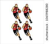 play basket ball e sport logo | Shutterstock .eps vector #1065988280
