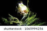 cave opening at ape caves... | Shutterstock . vector #1065994256