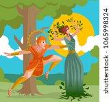 daphne greek mythology... | Shutterstock .eps vector #1065998324