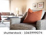 a red geometric pattern throw...   Shutterstock . vector #1065999074