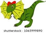 cute dinosaur cartoon posing... | Shutterstock .eps vector #1065999890