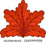 cute red autumn leaf cartoon | Shutterstock .eps vector #1065999908