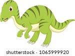 cute dinosaur cartoon standing... | Shutterstock .eps vector #1065999920