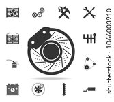 brake disc icon. detailed set... | Shutterstock .eps vector #1066003910