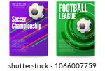 posters of tournament football... | Shutterstock .eps vector #1066007759