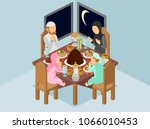 isometric vector illustration... | Shutterstock .eps vector #1066010453