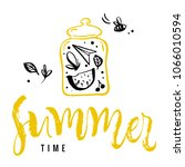 summer time. calligraphy... | Shutterstock .eps vector #1066010594