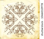 retro baroque decorations... | Shutterstock .eps vector #1066010978