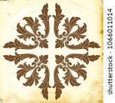 retro baroque decorations... | Shutterstock .eps vector #1066011014