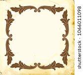 retro baroque decorations... | Shutterstock .eps vector #1066011098