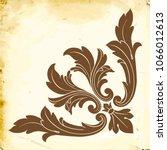 retro baroque decorations...   Shutterstock .eps vector #1066012613
