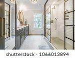 luxurious updated bathroom | Shutterstock . vector #1066013894