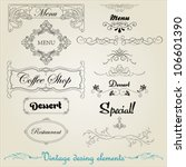 vintage design elements.... | Shutterstock .eps vector #106601390