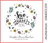 save the date invitation card... | Shutterstock .eps vector #1066021154