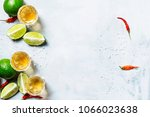 tequila with lime and salt ... | Shutterstock . vector #1066023638