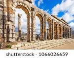 volubilis near meknes in... | Shutterstock . vector #1066026659