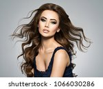 beautiful caucasian woman with... | Shutterstock . vector #1066030286