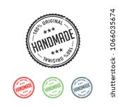 100  original handmade...   Shutterstock .eps vector #1066035674