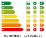energy efficiency rating vector ... | Shutterstock .eps vector #1066038734