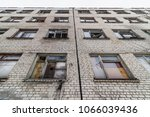 view of an abandoned... | Shutterstock . vector #1066039436