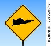 saint croix map road sign.... | Shutterstock .eps vector #1066039748