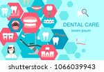 banner of dental cabinet with... | Shutterstock .eps vector #1066039943