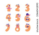 collection of numerals for... | Shutterstock .eps vector #1066041890