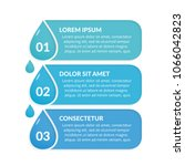 infographic template with three ... | Shutterstock .eps vector #1066042823