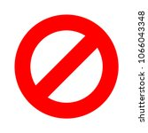 stop sign  stop icon   vector... | Shutterstock .eps vector #1066043348