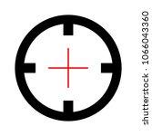 target aim icon  vector target... | Shutterstock .eps vector #1066043360