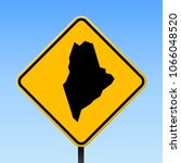 maine map road sign. square... | Shutterstock .eps vector #1066048520