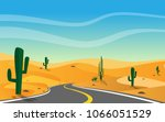 landscape view of local road... | Shutterstock .eps vector #1066051529
