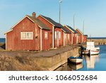 gammalsby harbor at eastern... | Shutterstock . vector #1066052684