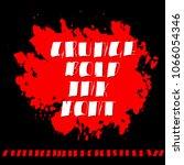 handdrawn dry brush font.... | Shutterstock .eps vector #1066054346