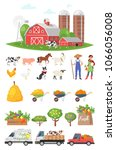 vector cartoon style farmers...   Shutterstock .eps vector #1066056008