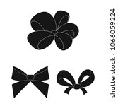 multicolored bows black icons... | Shutterstock .eps vector #1066059224