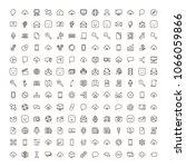social network icon set.... | Shutterstock .eps vector #1066059866