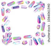 crystals frame isolated.... | Shutterstock . vector #1066061540