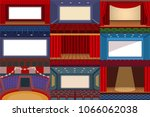 theater vector theatre stage... | Shutterstock .eps vector #1066062038