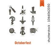 oktoberfest beer festival. flat ... | Shutterstock .eps vector #1066062050