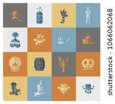 oktoberfest beer festival. flat ... | Shutterstock .eps vector #1066062068