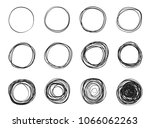 circle scribble line sketch set ... | Shutterstock .eps vector #1066062263