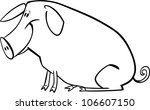 coloring page illustration of... | Shutterstock . vector #106607150