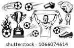 set of soccer elements and... | Shutterstock .eps vector #1066074614