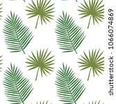 seamless pattern with palm... | Shutterstock .eps vector #1066074869