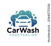 car wash logo company design... | Shutterstock .eps vector #1066075106