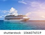 cruise ship  ferry sailing on... | Shutterstock . vector #1066076519