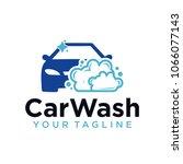 car wash logo company design... | Shutterstock .eps vector #1066077143