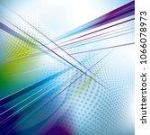 crisscrossed technology... | Shutterstock .eps vector #1066078973